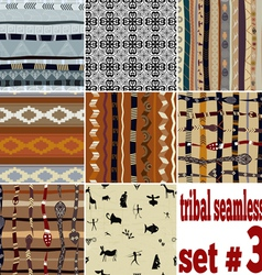 Set of seamless ethnic pattern vector image