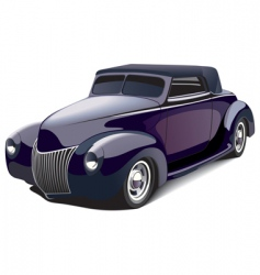 smart hot rod vector image vector image
