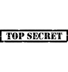 Stamp top secret vector