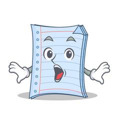Surprised notebook character cartoon design vector
