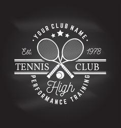 tennis club vector image