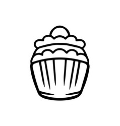 thin line cupcake icon vector image vector image