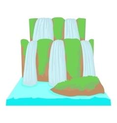 Waterfall icon cartoon style vector