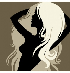 Artistic woman vector