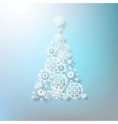 Abstract 3d snowflakes christmas tree eps 10 vector