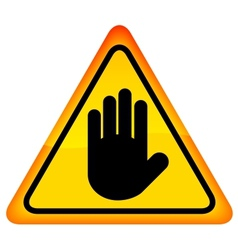 Stop hand sign vector