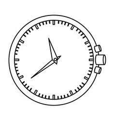 Monochrome silhouette of clock without bracelet vector