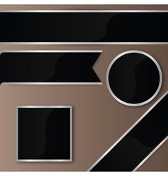 Elegant black-silver ribbon badges set vector