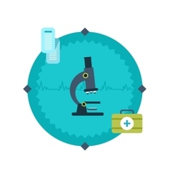 Modern flat icon of microscope vector