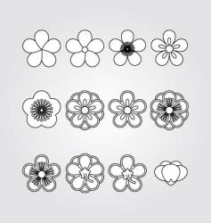 flower kit set vector image