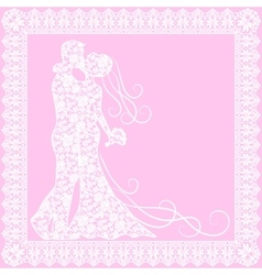 bride groom and lace vector image