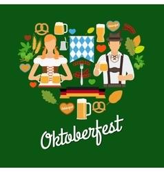 Oktoberfest flat elements vector image