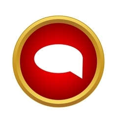 Message icon simple style vector