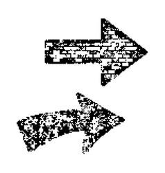 arrow black 8 bit minimalistic pixel art vector image vector image