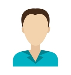 avatar man with blue shirt graphic vector image