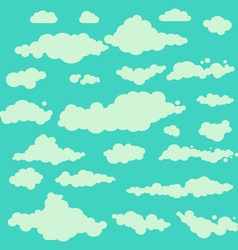 clouds collection set blue vector image vector image