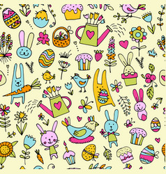 Easter seamless pattern for your design vector