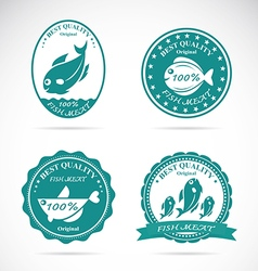 Fish labels vector
