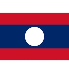 Flag of Laos vector image
