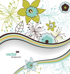Flower background with place for your text vector image vector image