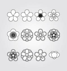 flower kit set vector image