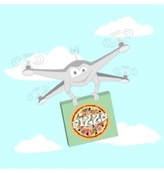 Funny drone Pizza vector image