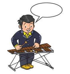 funny musician or xylophone player vector image