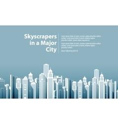Modern big city vector