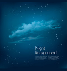 Night sky background with clouds and stars vector