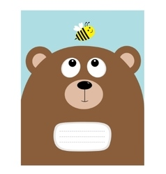 Notebook cover composition book template bear vector