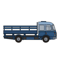 Old blue truck vector