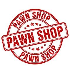 Pawn shop red grunge round vintage rubber stamp vector