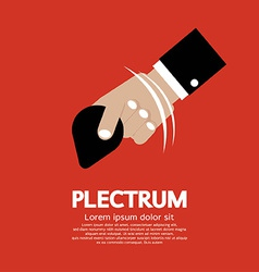 Plectrum in hand vector