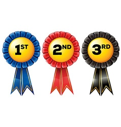Prize tag in three color vector image vector image
