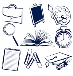 school items vector image