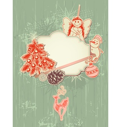 scrap booking kit for christmas vector image vector image