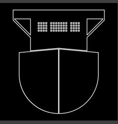 Seagoing cargo ship white color path icon vector