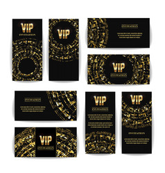 vip invitation card set party premium vector image vector image