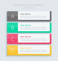 Infographic steps banners vector