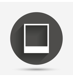 Photo frame template icon empty photography vector