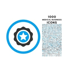 Reward Seal Rounded Icon with 1000 Bonus Icons vector image