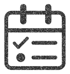 Day tasklist grainy texture icon vector