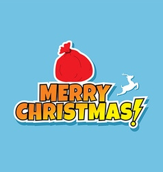 santa claus christmas gift bag sack vector image