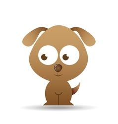 Lovely puppy dog icon vector