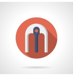 Arch with support flat round icon vector