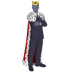 king of business vector image