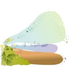 Lakeside Cityscape Sketch vector image