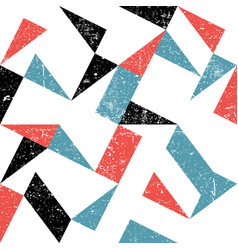Seamless triangles pattern abstract grunge vector