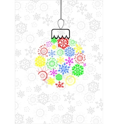 Colorful christmas ball vector