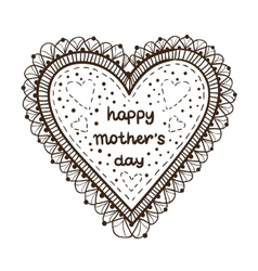 Happy mother day card concept heart element with vector